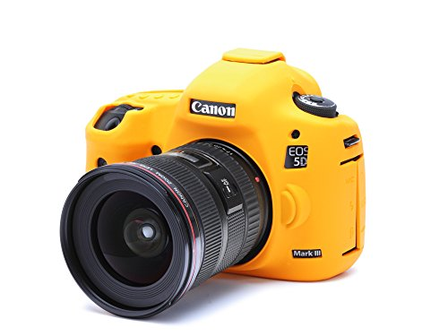 DISCOVERED イージーカバー Canon EOS 5DS / 5DS R/ 5D Mark 3 カメラカバー オレンジ 液晶保護フィルム付き