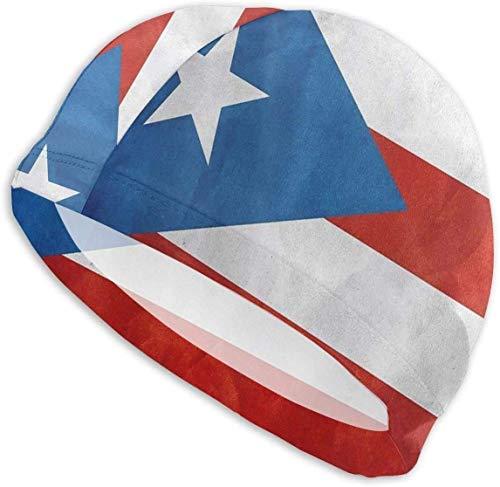 HFHY Velet Cuba Flag Swim Cap, High Stretch Stretch Soft Bonnet de Bain léger et antidérapant pour Les Cheveux bouclés épais avec Un Design Ergonomique 3D pour Garder Vos Cheveux Propres