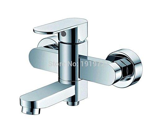 AllureFeng Le nouveau laiton 100% salle de bains Place de l'Europe baignoire robinet de douche mural garniture rempli avec douche ABS main