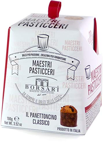 Mastri Pasticceri Borsari - Mini Panettone con Gocce di Cioccolato 100gr