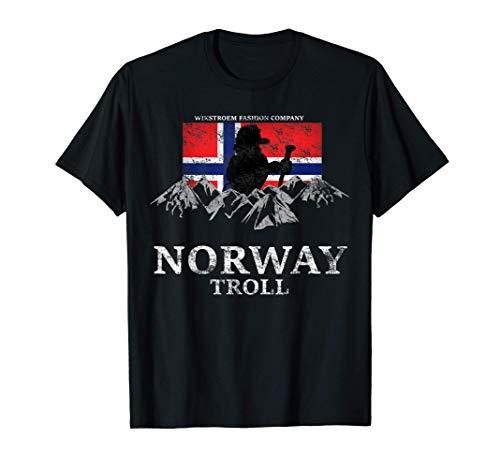 Norwegen Elch Fjord Norwegenurlaub Skandinavien Oslo Bergen T-Shirt