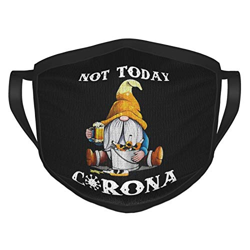Outdoor Face Mask Not Today Cor-ona-vir-us  Dust Protection Bandanas Balaclava Neck Gaiter Black