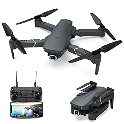 EACHINE E520 Drone with 4K Camera Live Video,WiFi FPV Drone for Adults with 4K HD 120° Wide Angle Camera 1200Mah Long Flight time Auto Hover Foldable RC Drone Quadcopter from EACHINE