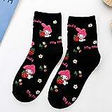 5 Pares De Calcetines De Gato Rejilla De Dibujos Animados Mujeres Harajuku Kawaii Divertido Lindo Calcetines Felices Calcitonina Mujer