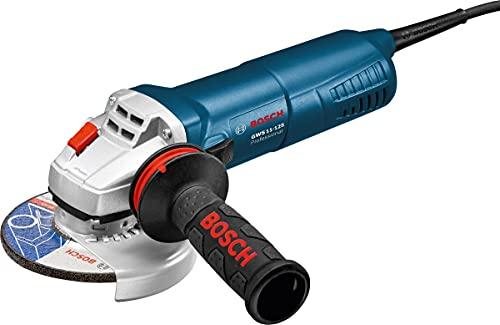 BOSCH 060179D003 - Miniamoladora GWS 11-125 Professional. 1100 W. 11.500 r.p.m. Disco de 125 mm. Protección contra rearranque. Arranque suave con Empuñadura adicional anti-vibración. Maletín.