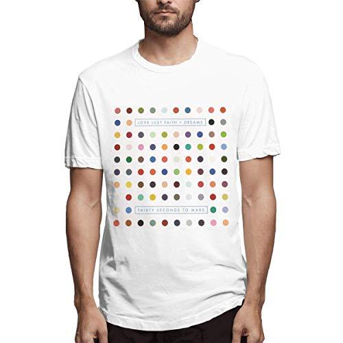 Camisetas básicas de diseño para Hombres, 30 Segundos a Marte Love Lust Faith + Dreams, Blanco