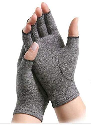 Yinuoday 1 paar Anti Artritis Handschoenen Compressie Handschoenen Fitness Handschoenen Hand Ondersteuning Pijn Verlichting Artritis Vinger Compressie, L, L, 1