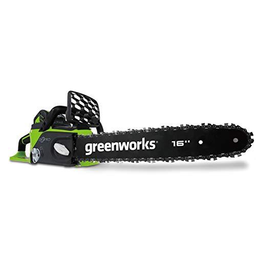Greenworks Tools Batteria Motosega a Catena GD40CS40 (Li-Ion 40V 11 m/s Velocità della Catena, 40 cm Lunghezza della Spada, 180 ml Volume del Serbatoio dell'olio senza Batteria e Caricabatterie)