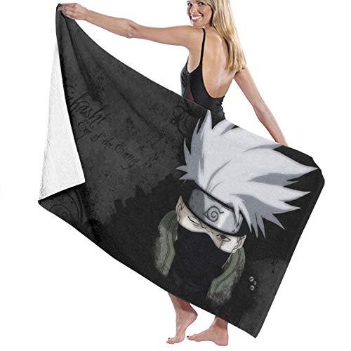 Naruto Hatake Kakashi schnell trocknendes Badetuch, stylisch, für Männer und Frauen, Schwimmen, Yoga, Bikini, Sport, Reisen, Camping, Badetücher
