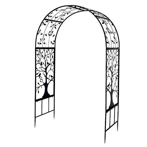 Ejoyous Rankbogen Rosen, Metall Rosenbogen, für Blumen Pflanzen Patio Bogen für zeremonielle Dekoration Hochzeitsfeier Outdoor Garden Gate 2.14m