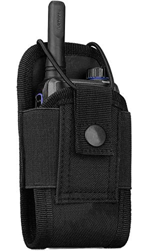 Kyrio Molle Funk-Halterung Walkie Talkie Tasche für Duty Belt Radio Holster Taktische Jagd Intercom Tasche Interphone Pouch