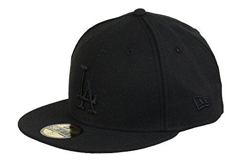 New Era Los Angeles Dodgers 59fifty Basecap MLB Black on Black - 7 1/2-60cm