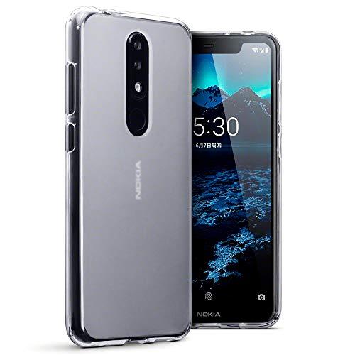 TERRAPIN, Kompatibel mit Nokia 5.1 Plus Hülle, TPU Schutzhülle Tasche Hülle Cover - Transparent