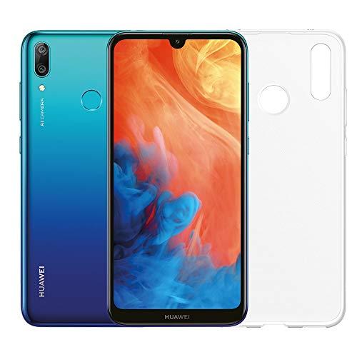 """Huawei Y7 2019 (Blu) più cover trasparente, Telefono con 32 GB, Display 6.26"""" Full HD+, Doppia fotocamera posteriore 13+2 Mpx, Processore Octa Core dinamico [Versione Italiana]"""