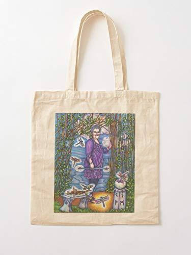 Amethyst Goddess Devas Garden Tote Cotton Very Bag | Bolsas de supermercado de lona Bolsas de mano con asas Bolsas de algodón duraderas