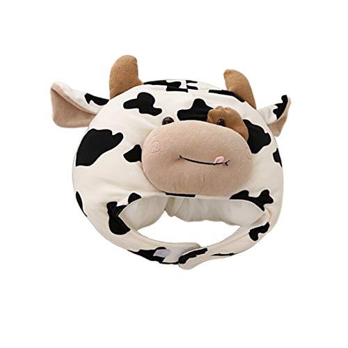 yotijar Sombrero con Orejeras de Vaca Sombrero de Diadema de Animal de Felpa