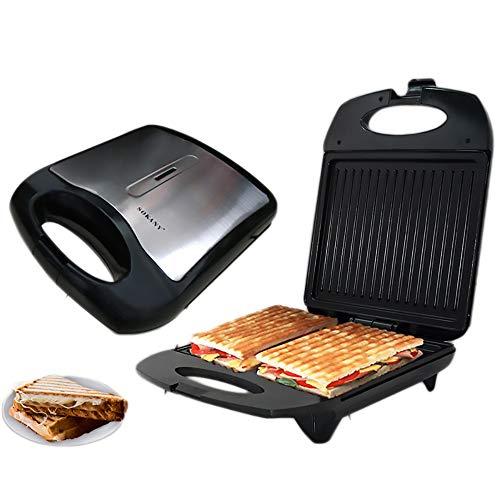 Lucky Big Head YY Panini-Sandwich Mit Großer Kapazität Maschine, Das Sandwich Gebacken 4, Küche Backen, Grill, Lebensmittelqualität Material, Enthusiasten Grillen, 32 * 26 * 10.5CM,Nonstickpan
