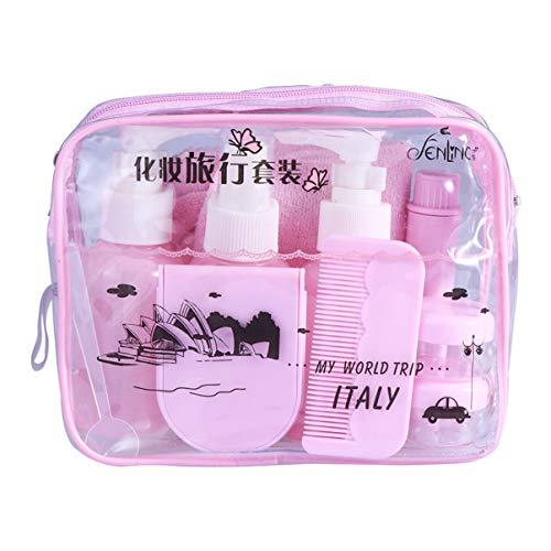 Beaupretty Bouteilles de Voyage 10 en 1 Récipients de Voyage Rechargeables Party Favors Supplies for Shampoo Lotion Savon (Lavender)