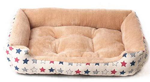 Cama Perro Camas para Perros para Perros Grandes Perros Pequeños Cálido Y Suave Colchón para Perros Sofá Lavable Sofás para Dormir para Mascotas Estera De Jaula Xl80Cm Beigestar