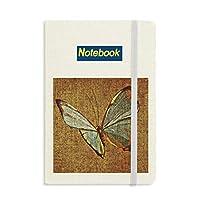 デザインの刺繍の亜麻の蝶の伝統 ノートブッククラシックジャーナル日記A 5