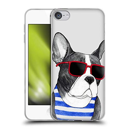 Head Case Designs Officially Licensed Barruf Frenchie Summer Style Dogs Soft Gel Case Compatible with Apple Touch 6th Gen / Touch 7th Gen