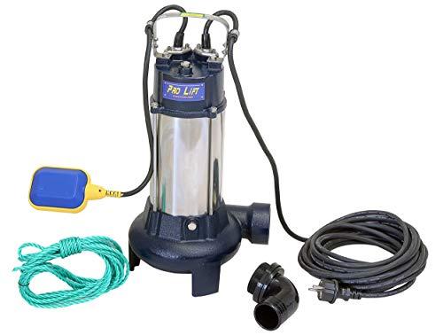 Pro-Lift-Werkzeuge Tauchpumpe mit Zerkleinerer Schwimmschalter 1100W Schmutzwasserpumpe Wasserpumpe 233l/min selbstansaugend Gartenpumpe 1,1kW Bewässerungspumpe 230V Garten Pumpe Abwasser