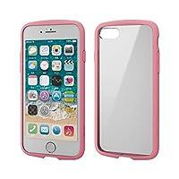 エレコム iPhone SE 第2世代 2020 / 8 / 7 対応 ケース 耐衝撃×フレーム TOUGH SLIM LITE [背面クリアタイプ] ピンク PM-A19ATSLFCPN