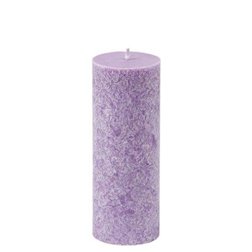 Élégant marmorierte Grande bougie pilier parfumée Lavande 160 mm de haut 60 mm de diamètre