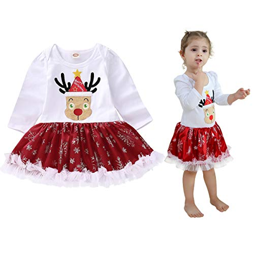 Newborn Baby Girl Long Sleeve Romper Tutu Dress Tulle Lace Overall Skirt One-Piece Outfit Set