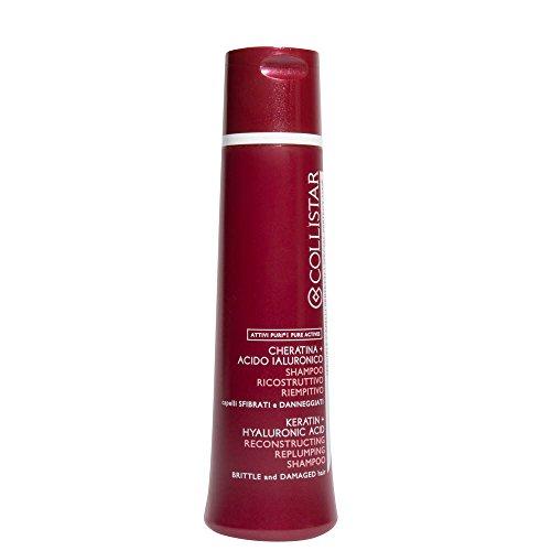 Collistar shampoo ricostruttivo riempitivo - linea attivi puri cheratina + acido ialuronico