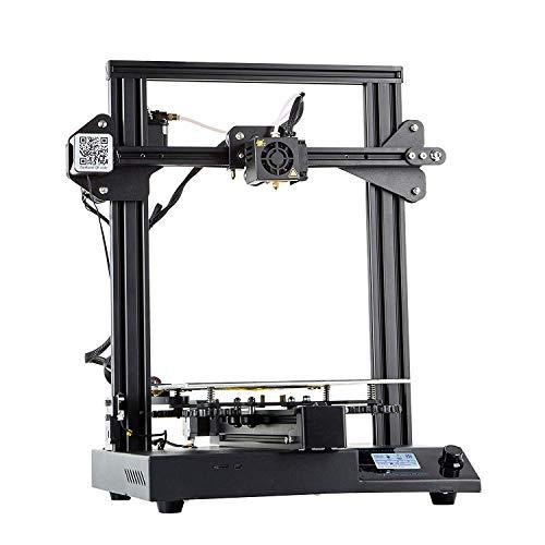 QLPP Imprimante 3D, Semi-assemblé, entièrement métallique I3 MK8 avec Impression de Reprise, Volume d'impression 24v 220x220x250mm avec Couche de Verre Extra-Couverture Carbone