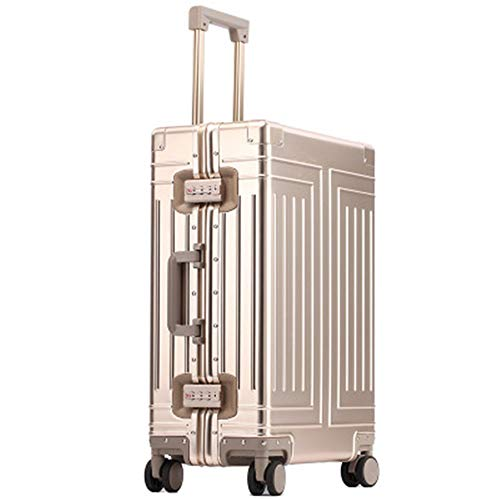 Laishutin Luggage All Aluminum Magnesium Alloy Luggage Box Universal Wheel Trolley Case 26 Inch Aluminum Alloy Suitcase For business trips and travel (Color : C4, Size : 20inch)
