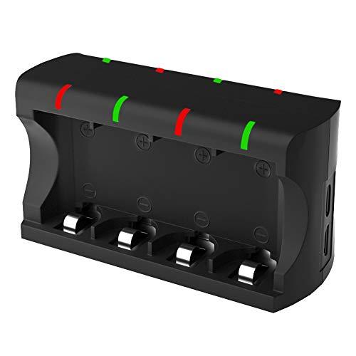Alaojie - Cargador para Pilas CR123A (5 V, 300 mAh, 8 Ranuras, Puerto USB)