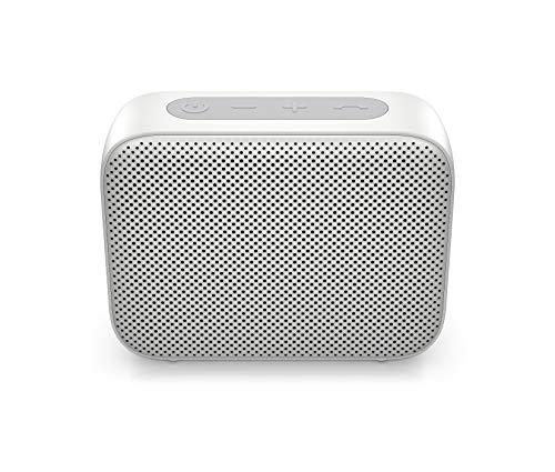 HP – PC Bluetooth 350 Lautsprecher, integriertes Mikrofon, Bluetooth 5 Verbindung, wasserdicht, kompatibel mit PCs, Tablets oder Smartphones, AUX 3,5 mm, Silber