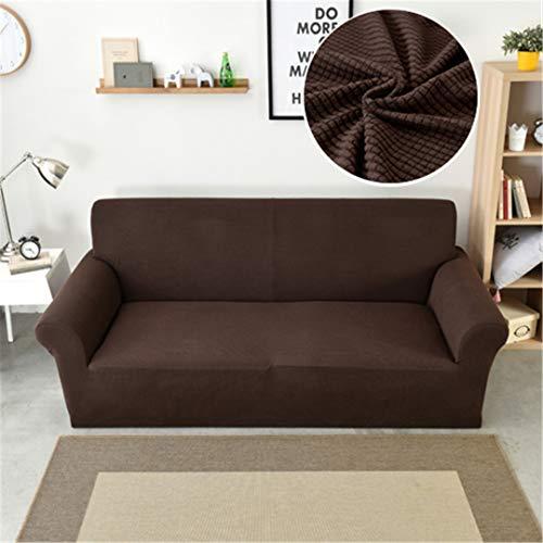 BHFSLKF Polar Fleece-Sofa-Abdeckung Maiskörner Couch Abdeckung Thick Universal-Stretch Husse für Wohnzimmer Sessel 1/2/3/4-Sitzer Sofa Brown 3-Seat Sofa