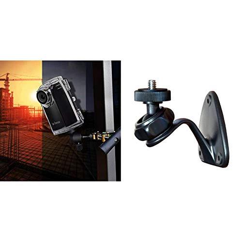 Brinno BCC200 Pro Bundle HDR Time Lapse Camera, Cronofotografia, Display LCD 1.44quot & AWM100 Supporto da Parete per Serie Camera Brinno Time Lapse TLC