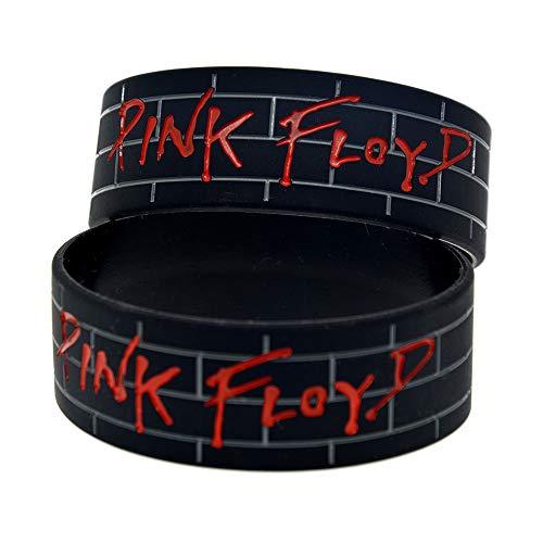 Xlin 1 Pulgada Pulsera de Silicona Banda de Rock Pink Floyd Pink Floyd