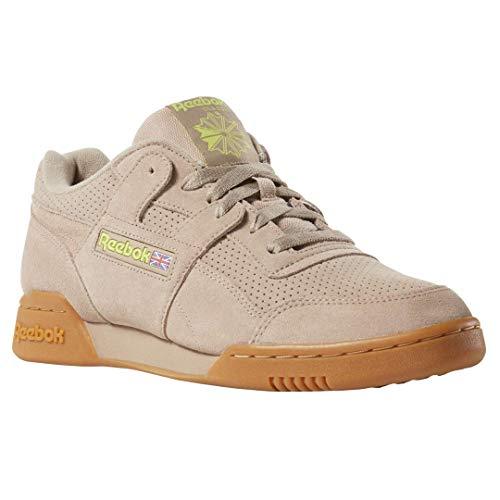 Reebok Workout Plus MU Herren Schuhe (44 EU, Sand BEIGE/NEON Lime/Gum)