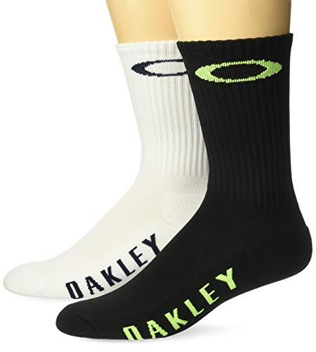 Oakley Herren Ellipse ON TOP (2 PCS Pack) Legere Socken, Blackout, Large