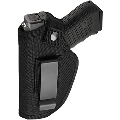 Gun Holsters for Men/Women, 380 Holster for Pistols, Universal Airsoft Right/Left, IWB/OWB Holsters for Concealed Carry - 9mm Holster Fits Glock 23,26,27,42, M&P Shield and Similar Handgun, Black