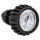 wolfgo kayak pressure gauge-25psi 1.6bar barometro manometro aria for gommone zattera kayak nero
