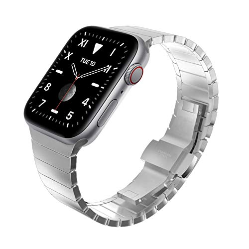 Wingle Gliederarmband aus Edelstahl für Apple Watch
