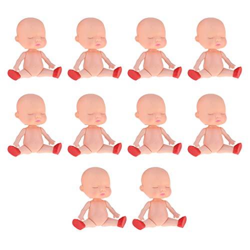 Homyl 10 Stücke Realistische Schlafende Baby Puppe Minipuppe Nackte Körperform Spielzeug ohne Kleidung