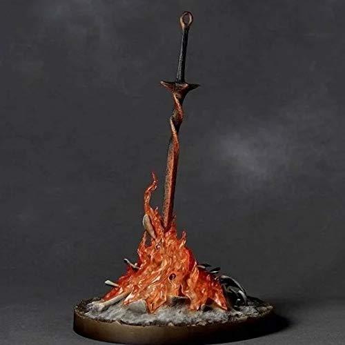 STKCST Muñeca de Anime Dark Souls Hoguera Fuego resplandeciente Espada resplandeciente Figura Versión Escultura Decoración Estatua Muñeca Modelo Juguete Figura 23cm Altura