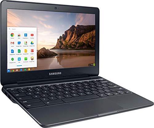 Samsung Newest Chromebook 3 11.6' HD Flagship High Performance Ultrabook Laptop PC, Intel Core Celeron N3060 Dual-Core, 4GB RAM, 32GB eMMC, Bluetooth, Stereo Speakers, Chrome OS (Black) (Renewed)