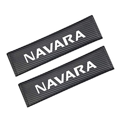 LHRLBB 2 Stück Sicherheitsgurt Dekoration Schulterpolster, für Nissan Navara D40 D22 D23 NP300 Seat Belt Protector Cover Auto-Styling Innere ZubehöR Mehr Komfort Auf Reise