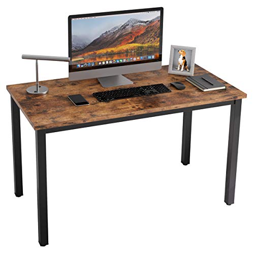 (40% OFF Coupon) IRONCK 47″ Vintage Brown Computer Desk $59.99
