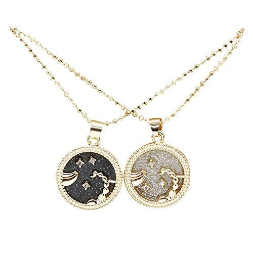 Collar de constelación, collar redondo de 12 constelaciones para mujeres, hombres, parejas, colgante creativo, accesorio - Escorpio