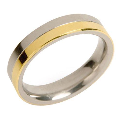 Boccia Damen-Ring teil-goldplattiert Titan GR.61 0129-0261