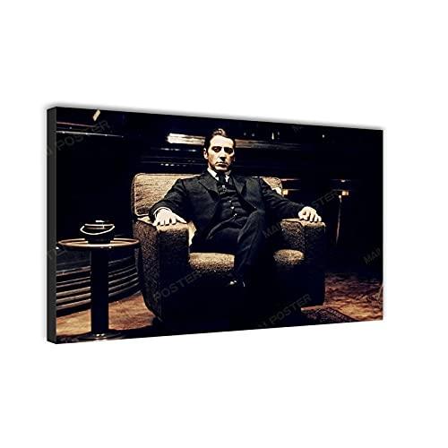 Póster de la mejor película de Al Pacino en lienzo, moderno para decoración del hogar, sala de estar, HD Poster Wall Art SANTA RONA (32 x 40 pulgadas, sin marco)